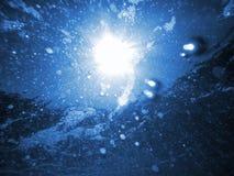 Bulles sous-marines de mer Images libres de droits