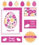 Bulles texturisées abstraites de vecteur réglées de Pâques Photos stock