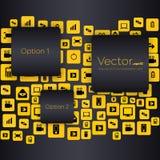 Bulles vides de la parole de vecteur créatif abstrait de concept Pour le Web et les applications mobiles d'isolement sur le fond Photographie stock