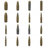Bullet. 3d render of gun bullet Stock Images
