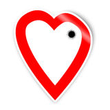 Bullet. A heart shooted ,suitable for the Valentines day Stock Photo