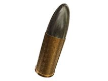 Bullet. 3D isolated image of a Bullet Royalty Free Stock Image