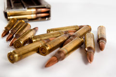 Bullet. Military industry kills people peace Royalty Free Stock Photography