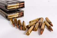 Bullet. Military industry kills people peace Royalty Free Stock Photo