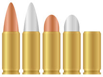 Bullet. Set isolated on a white background. Vector illustration Royalty Free Stock Photo