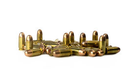 Bullet .45 auto on white background Stock Photo