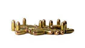 Bullet .45 auto on white background Stock Photo