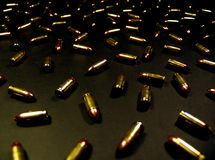 Bullet Background. Guns only have two enemies: rust and Liberals. If you are free to be a liberal – thank a man with a gun Royalty Free Stock Photography