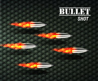 Bullet background concept. illustration Royalty Free Stock Image