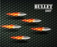 Bullet background concept. illustration Royalty Free Stock Image