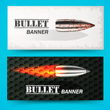 Bullet background concept. illustration Royalty Free Stock Photography
