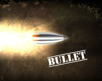 Bullet background concept. illustration Stock Photo