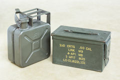 Bullet box with jerrycan Stock Photos