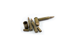 bullet and bullet casings Royalty Free Stock Image