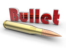 Bullet cartridge illustration Royalty Free Stock Photos