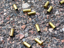 Bullet cases stock image