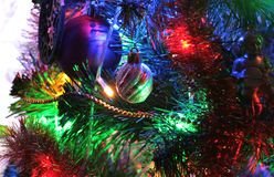 Bullet, Christmas decoration and beautiful illumination stock image