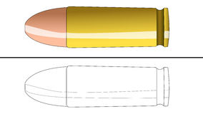 Bullet for coloring. A colored bullet and for coloring layout contour Royalty Free Stock Photos