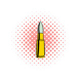 Bullet comics icon. On a white background Stock Photos