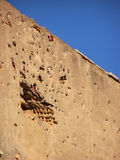 Bullet damaged Wall. This building is in Nicosia, Cyprus. It's damaged by Greek Cypriots bullets Stock Photography