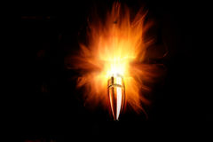 Bullet on Fire Royalty Free Stock Images