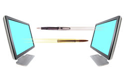 Bullet & fountain pen Stock Photos