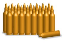 Bullet golden Stock Photo