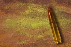 Bullet on grunge background Royalty Free Stock Photos