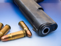 Bullet and gun Royalty Free Stock Images
