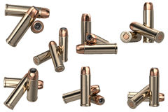 Bullet gun ammunition set Royalty Free Stock Images