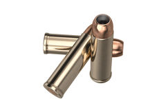 Bullet gun caliber. For hunting and protection. 3D graphic stock photo