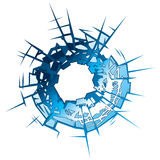 Bullet Hole. In glass. Vector Illustration Royalty Free Stock Photography