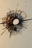 Bullet hole. In a glass Royalty Free Stock Photos