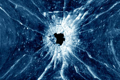 Bullet hole stock images