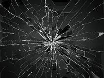 Free Bullet Hole And Pieces Of Shattered Or Smashed Glass Royalty Free Stock Photography - 105383677