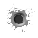 Bullet hole background Royalty Free Stock Image