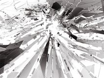 Bullet hole Cracked and Shattered glass. 3d rendering 3d illustration Stock Photos