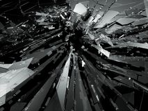 Bullet hole Cracked and Shattered glass. 3d rendering 3d illustration Stock Photography