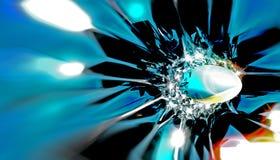 Glass impact Stock Image