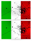 Bullet hole Italy flags Stock Images