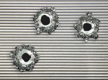 Free Bullet Hole Steel Metal Plate Royalty Free Stock Photography - 5955307
