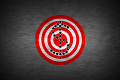 Bullet hole. On target. metal background. concept design for business theme design Royalty Free Stock Photography
