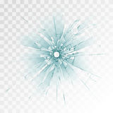 Bullet hole. In vector on transparent background royalty free illustration