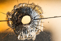 Bullet of hole Stock Photography