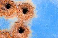 Bullet holes Stock Photography