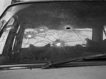 Bullet holes BW Stock Photo