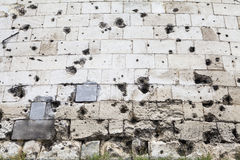 Bullet Holes on the Citadel in Budapest Royalty Free Stock Photo