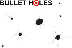 Bullet holes doodle Royalty Free Stock Photography
