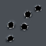 Bullet holes Royalty Free Stock Image