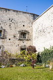 Bullet holes on the historic Citadel in Budapest, Hungary Royalty Free Stock Photos